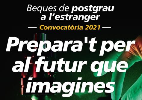 """Èxit rotund dels estudiants CFIS a les Beques de Postgrau de la Fundació """"la Caixa"""", 2021"""