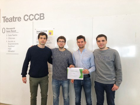 Titulats i un estudiant del CFIS, premiats a la Barcelona Pollution Datathon