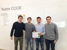Titulados y un estudiante del CFIS, premiados en la Barcelona Pollution Datathon